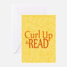 Curl Up Read Yellow Greeting Cards
