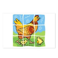 Free-Range Chicken Postcards (Package of 8)