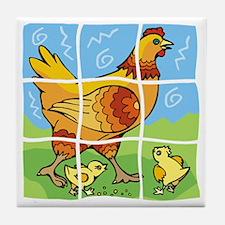 Free-Range Chicken Tile Coaster