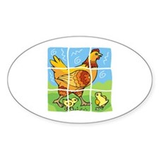 Free-Range Chicken Oval Decal