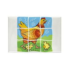 Free-Range Chicken Rectangle Magnet