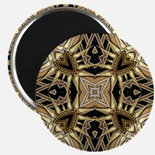 Art Deco Black Gold Hearts Magnet
