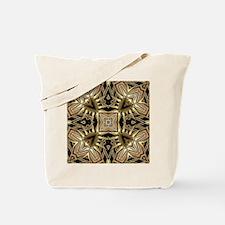 Art Deco Black Gold Hearts Tote Bag