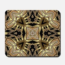 Art Deco Black Gold Hearts Mousepad