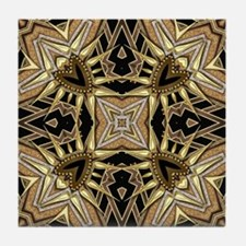 Cool Black and gold Tile Coaster