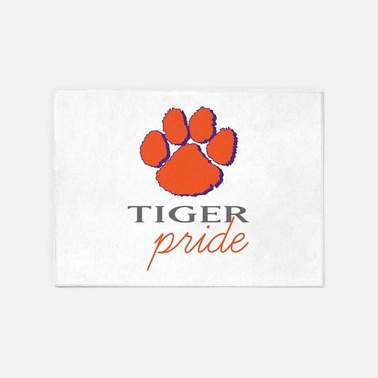 Tiger Pride 5'x7'Area Rug
