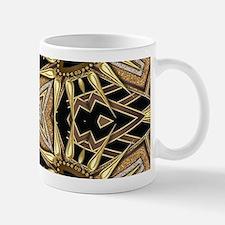 Art Deco Black Gold Hearts Mugs