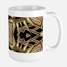 Art Deco Black Gold Hearts Mugs
