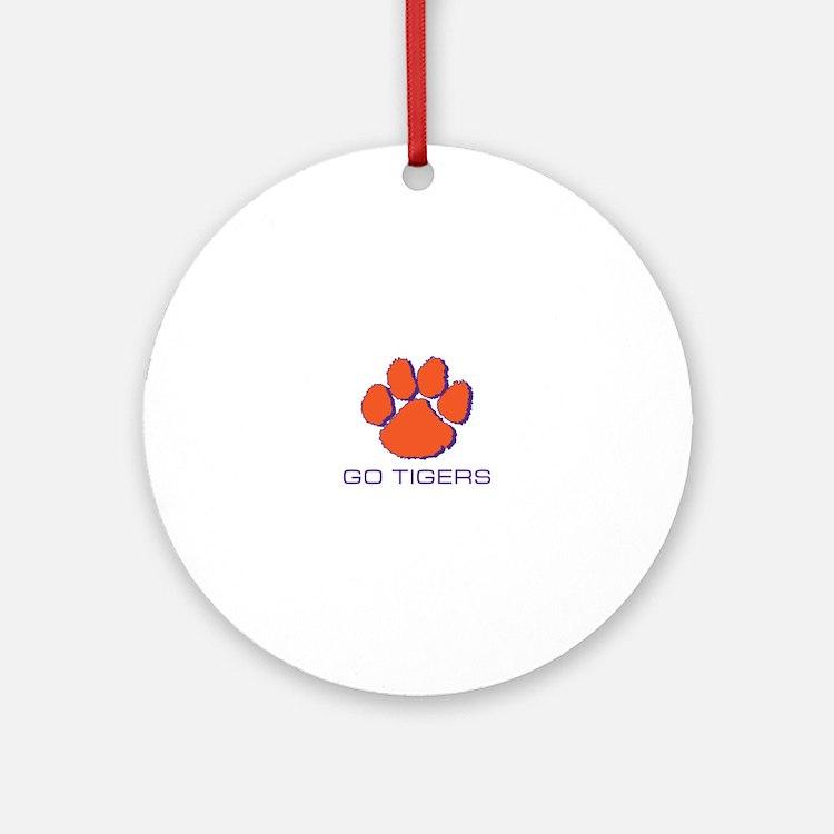 Go Tigers Ornament (Round)