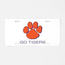 Go Tigers Aluminum License Plate