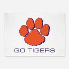 Go Tigers 5'x7'Area Rug