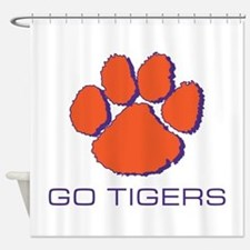 Go Tigers Shower Curtain
