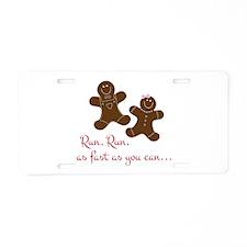 Fast Gingerbread Man Aluminum License Plate