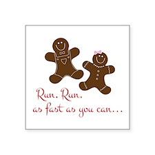 Fast Gingerbread Man Sticker