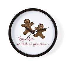 Fast Gingerbread Man Wall Clock