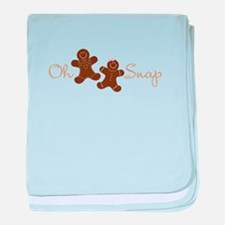 Oh Snap baby blanket