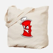 Cartoon Red Spray Paint Can Tote Bag