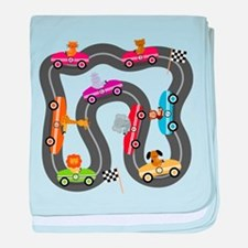 Race Day Racing Cars baby blanket