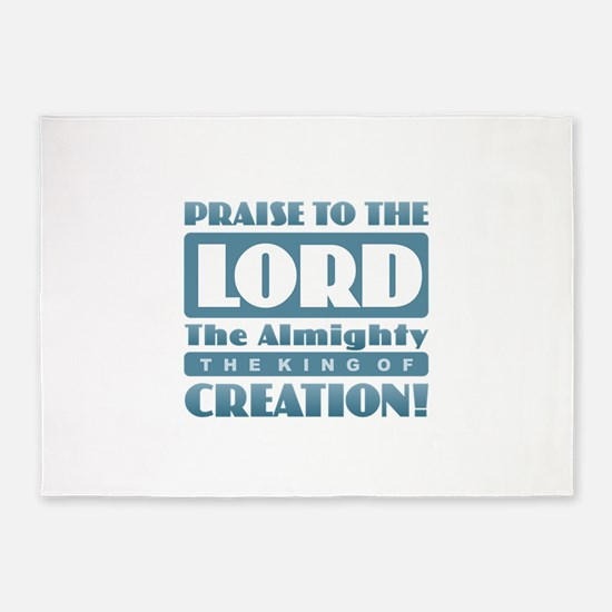 Praise the Lord 5'x7'Area Rug