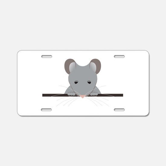Pocket Mouse Aluminum License Plate