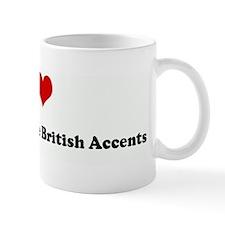 I Love People With Fake Briti Small Mug