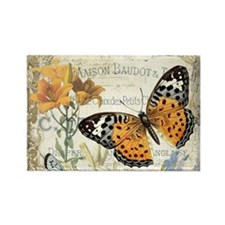 modern vintage butterfly Magnets