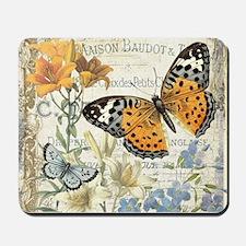 modern vintage butterfly Mousepad