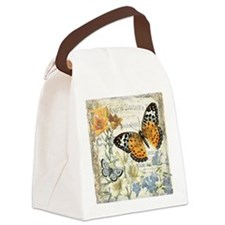 modern vintage butterfly Canvas Lunch Bag