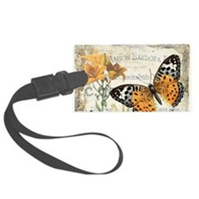 modern vintage butterfly Luggage Tag