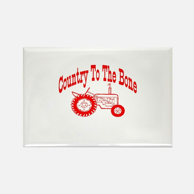 Country To The Bone Rectangle Magnet