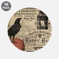 """Modern vintage Halloween 3.5"""" Button (10 pack)"""