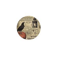 Modern vintage Halloween Mini Button (10 pack)