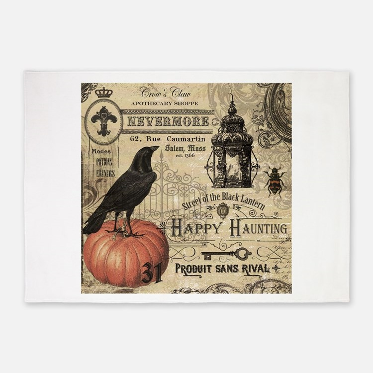 modern vintage halloween 5x7area rug - Halloween Rugs