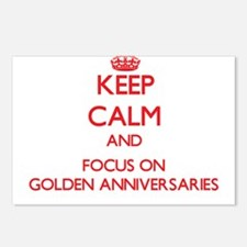 Cute Golden anniversary Postcards (Package of 8)