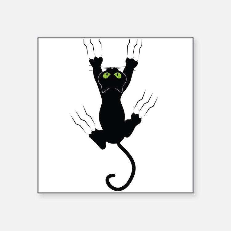Cat Scratching Sticker