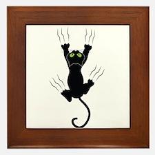 Cat Scratching Framed Tile