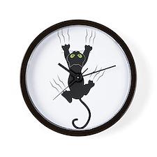 Cat Scratching Wall Clock