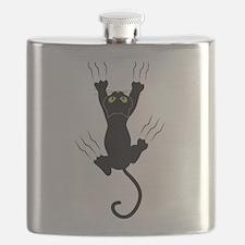 Cat Scratching Flask