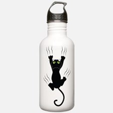 Cat Scratching Water Bottle