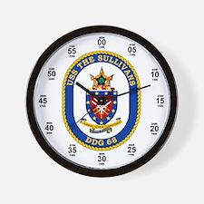 USS The Sullivans DDG-68 Wall Clock