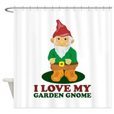 Love Gnome Shower Curtain