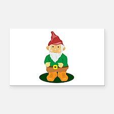 Lawn Gnome Rectangle Car Magnet