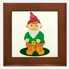 Lawn Gnome Framed Tile