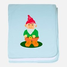 Lawn Gnome baby blanket