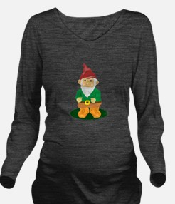 Lawn Gnome Long Sleeve Maternity T-Shirt
