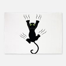 Cat Scratching 5'x7'Area Rug
