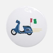 Italian Scooter Vespa Motorcycle Ornament (Round)