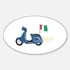 Italian Scooter Vespa Motorcycle Decal