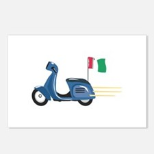 Italian Scooter Vespa Motorcycle Postcards (Packag