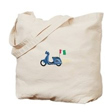 Italian Scooter Vespa Motorcycle Tote Bag